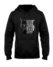 Black Cat and eyes Hooded Sweatshirt thumbnail