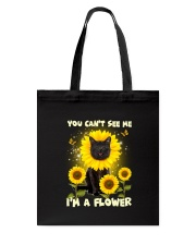 Black cat and flower Tote Bag thumbnail