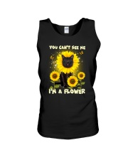 Black cat and flower Unisex Tank thumbnail