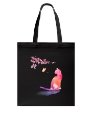 Cat in the spring Tote Bag thumbnail