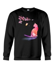 Cat in the spring Crewneck Sweatshirt thumbnail