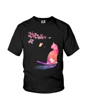 Cat in the spring Youth T-Shirt thumbnail
