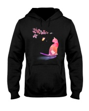 Cat in the spring Hooded Sweatshirt thumbnail