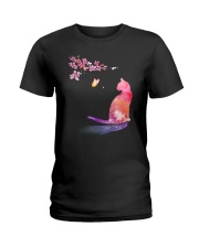 Cat in the spring Ladies T-Shirt thumbnail