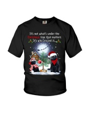 Black Cat Under The Tree Youth T-Shirt thumbnail