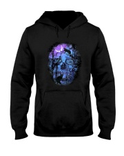 Black Cat Skull  Hooded Sweatshirt thumbnail