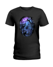 Black Cat Skull  Ladies T-Shirt thumbnail