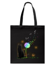 Black Cat Let It Go Tote Bag tile