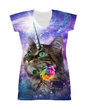 Maine cooncorn in the galaxy  All-over Dress thumbnail