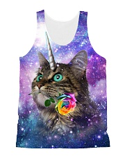Maine cooncorn in the galaxy  All-over Unisex Tank front