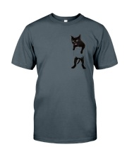 Black cat in bag 2108 Classic T-Shirt tile