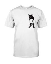 Black cat in bag 2108 Classic T-Shirt front
