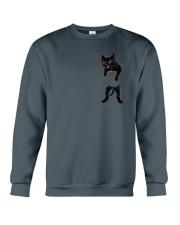 Black cat in bag 2108 Crewneck Sweatshirt thumbnail