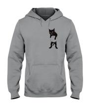 Black cat in bag 2108 Hooded Sweatshirt thumbnail