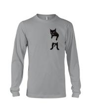 Black cat in bag 2108 Long Sleeve Tee thumbnail