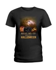 Blackcat Wake Me Up  Ladies T-Shirt thumbnail
