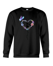 Butterfly and Cat I love you Crewneck Sweatshirt tile