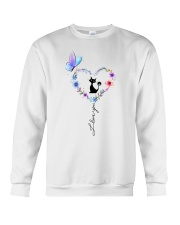 Butterfly and Cat I love you Crewneck Sweatshirt front