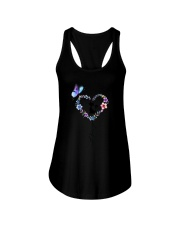 Butterfly and Cat I love you Ladies Flowy Tank thumbnail