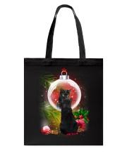 Black Cat Looking Ornament Christmas Tote Bag thumbnail