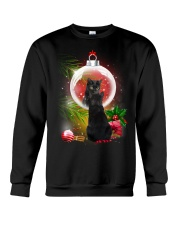 Black Cat Looking Ornament Christmas Crewneck Sweatshirt thumbnail
