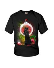 Black Cat Looking Ornament Christmas Youth T-Shirt thumbnail