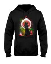Black Cat Looking Ornament Christmas Hooded Sweatshirt thumbnail