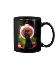 Black Cat Looking Ornament Christmas Mug thumbnail