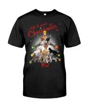 Cats All I Want Christmas Classic T-Shirt thumbnail