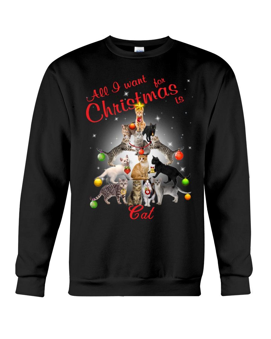 Cats All I Want Christmas Crewneck Sweatshirt