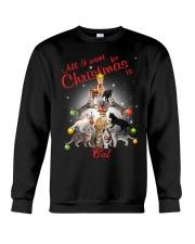 Cats All I Want Christmas Crewneck Sweatshirt front