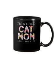 Cat Mom and flowers Mug thumbnail