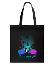Black cat magic pill 2507 Tote Bag thumbnail