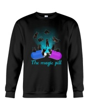 Black cat magic pill 2507 Crewneck Sweatshirt thumbnail