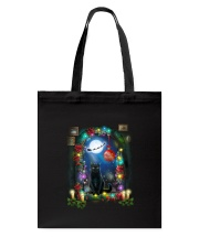 Black cat and window Xmas Tote Bag tile