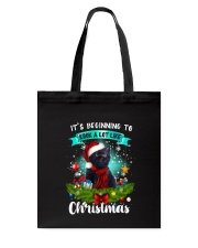 Black Cat Christmas Tote Bag thumbnail