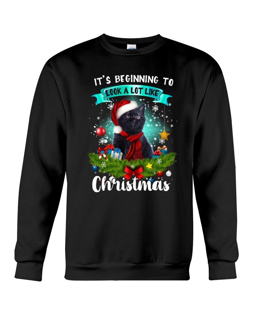 Black Cat Christmas Crewneck Sweatshirt