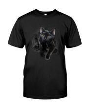Black Cat Hello 1009 Classic T-Shirt front