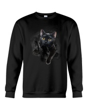 Black Cat Hello 1009 Crewneck Sweatshirt thumbnail