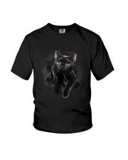 Black Cat Hello 1009 Youth T-Shirt thumbnail