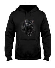 Black Cat Hello 1009 Hooded Sweatshirt thumbnail