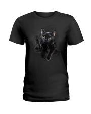 Black Cat Hello 1009 Ladies T-Shirt thumbnail