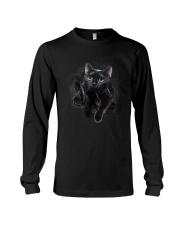Black Cat Hello 1009 Long Sleeve Tee thumbnail