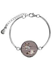 Grumpy Cat Striped  Metallic Circle Bracelet thumbnail