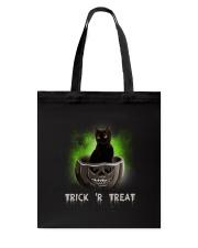 Black cat Trick or Treat 0808 Tote Bag thumbnail