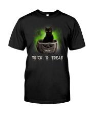 Black cat Trick or Treat 0808 Classic T-Shirt thumbnail