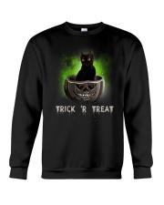 Black cat Trick or Treat 0808 Crewneck Sweatshirt thumbnail
