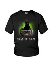 Black cat Trick or Treat 0808 Youth T-Shirt thumbnail