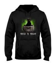 Black cat Trick or Treat 0808 Hooded Sweatshirt thumbnail