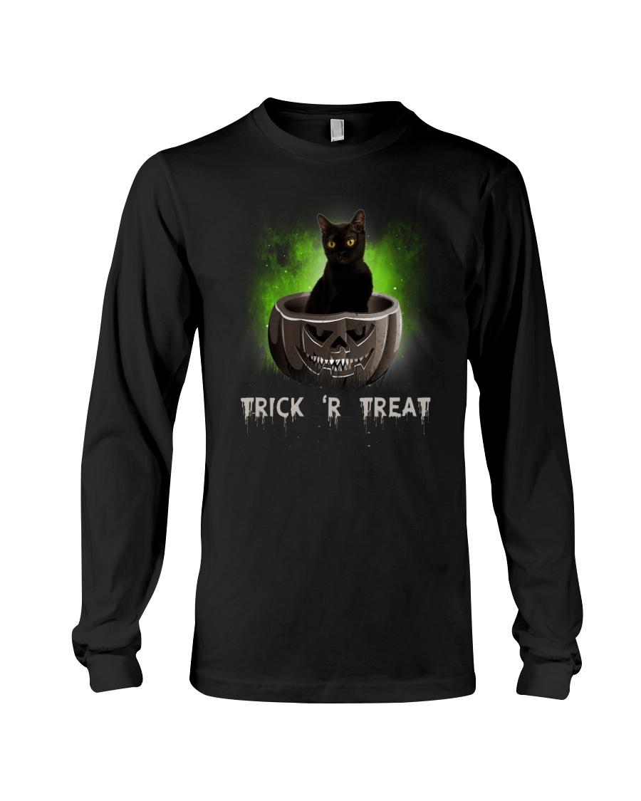 Black cat Trick or Treat 0808 Long Sleeve Tee